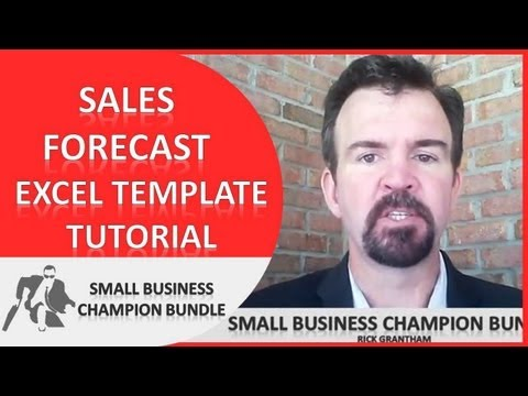 Sales Forecast Excel Template - Moving Average Sales Projections - Business Templates