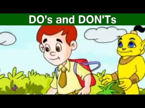 Instructions of DO's and DON'Ts - Learn English Grammar | Fun Kids Learning Video