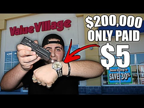 I BOUGHT A $200,000 DIAMOND WATCH FOR $5 FROM THE THRIFT STORE | USING A DIAMOND DETECTOR!!
