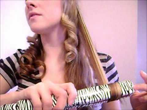 How to curl your hair with a straightener!