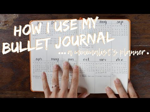 How I Use My Bullet Journal | Minimalist Planner