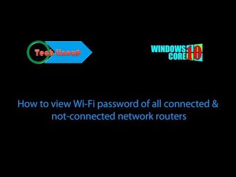How to view Wi-Fi password of connected and unconnected networds in Windows 10