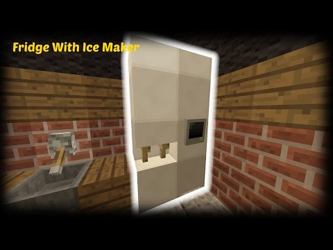 Minecraft - How to make a Fridge With Ice Maker