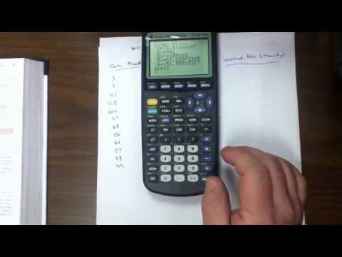 Find the Mean, Median and Mode on the Graphical Calculator - Part 1 - 32