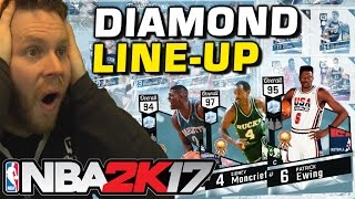 ALL DIAMOND LINE-UP!! NBA 2K17 MYTEAM BEST TEAM!