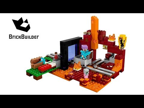 Lego Minecraft 21143 The Nether Portal - Lego Speed Build