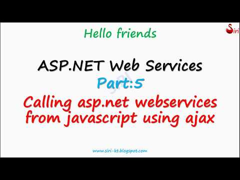 asp.net web services calling ajax from javascript