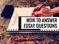 How to Answer Extended-Response or Essay Questions