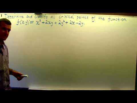 Critical points + 2nd derivative test: Multivariable calculus