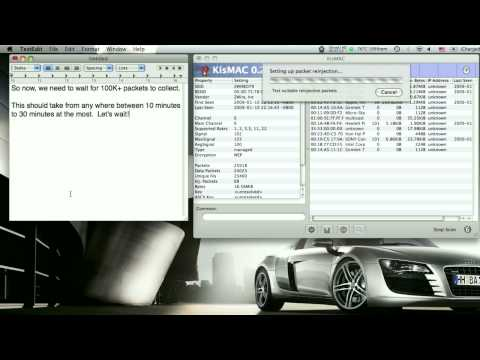 How to Crack WEP Encrypted Networks using KisMAC [HD]