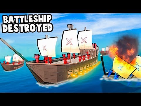 Giant Pirate NAVAL BATTLE!  BATTLESHIP Simulator! (Ancient Warfare 3)