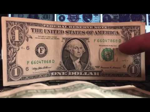 Looking through Bank Notes for Valuable Bills Errors Serial Numbers