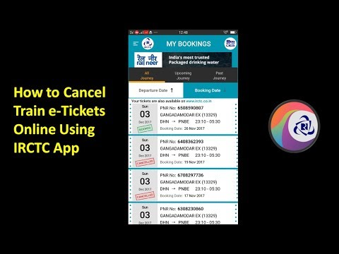 How to Cancel Train e-Tickets Online Using IRCTC App on Mobile