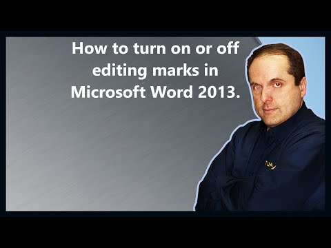 How to turn on or off editing marks in Microsoft Word 2013.