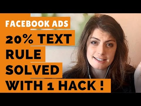 Facebook Ads Images: Solve with ONE simple hack your 20% text rule problems