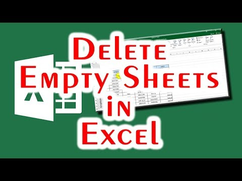How to delete empty sheets in excel?