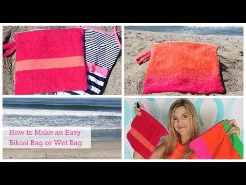 How to Make an Easy Bikini Bag or Wet Bag
