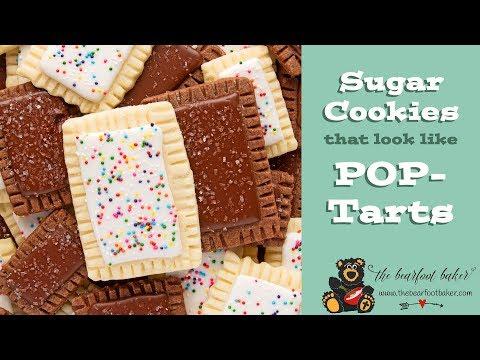 Sugar Cookies that look like Pop Tarts | The Bearfoot Baker