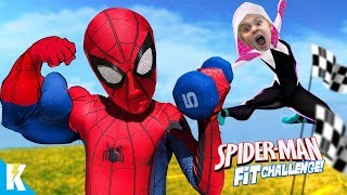 Download Spider-Man Fitness Challenge! Superhero Gear Test & Obstacle Course | KIDCITY Video