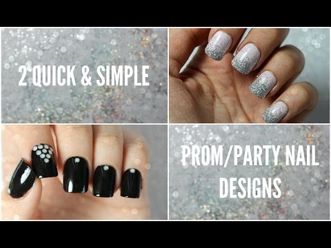 2 Quick & Simple Prom/Party Nail Designs  | Viki NailBeauty