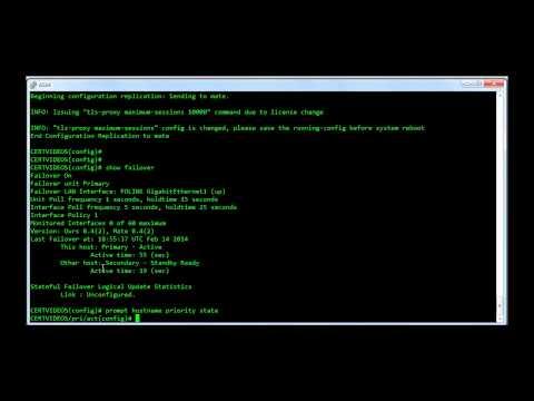 Cisco ASA Active Standby Failover Configuration