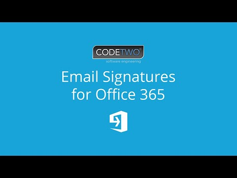 CodeTwo Email Signatures for Office 365 - how it works