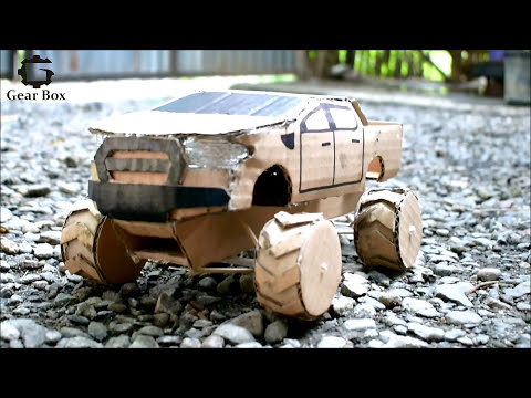 How to make a toy car FORD RANGER using Cardboard