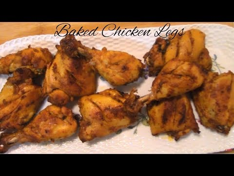 How to BAKE CHICKEN LEGS - Pakistani/Indian Cooking with Atiiya
