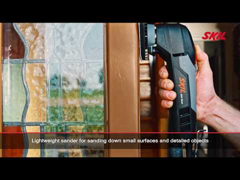 Skil 7126: Detail sander with two foot positions and finger-shaped attachment