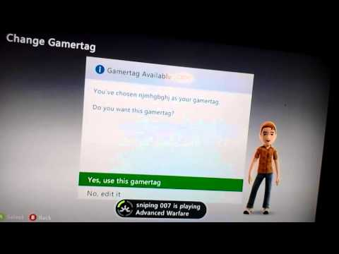 Xbox 360 free gamer tag and any gamertag you want!