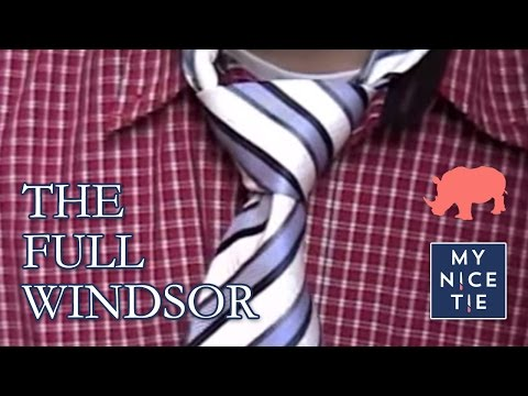 How To Tie A Tie Full Windsor Slowbeginner How To Tie A Full Windsor