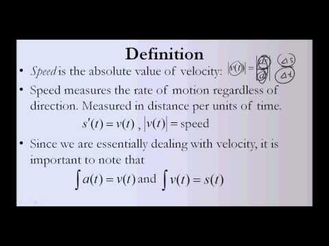 Speed (Calculus)
