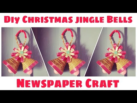 Diy Christmas Bells from Newspaper | Christmas Bells | Christmas Ornament | Christmas Decoration