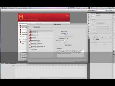guida adobe flash professional mac ita (asdf movie)
