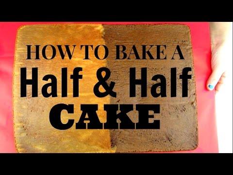 HOW TO BAKE A HALF & HALF SHEET CAKE! Half Chocolate Half White Cake Tutorial!