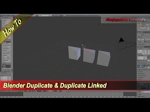 Blender Different Between Duplicate And Duplicate Linked