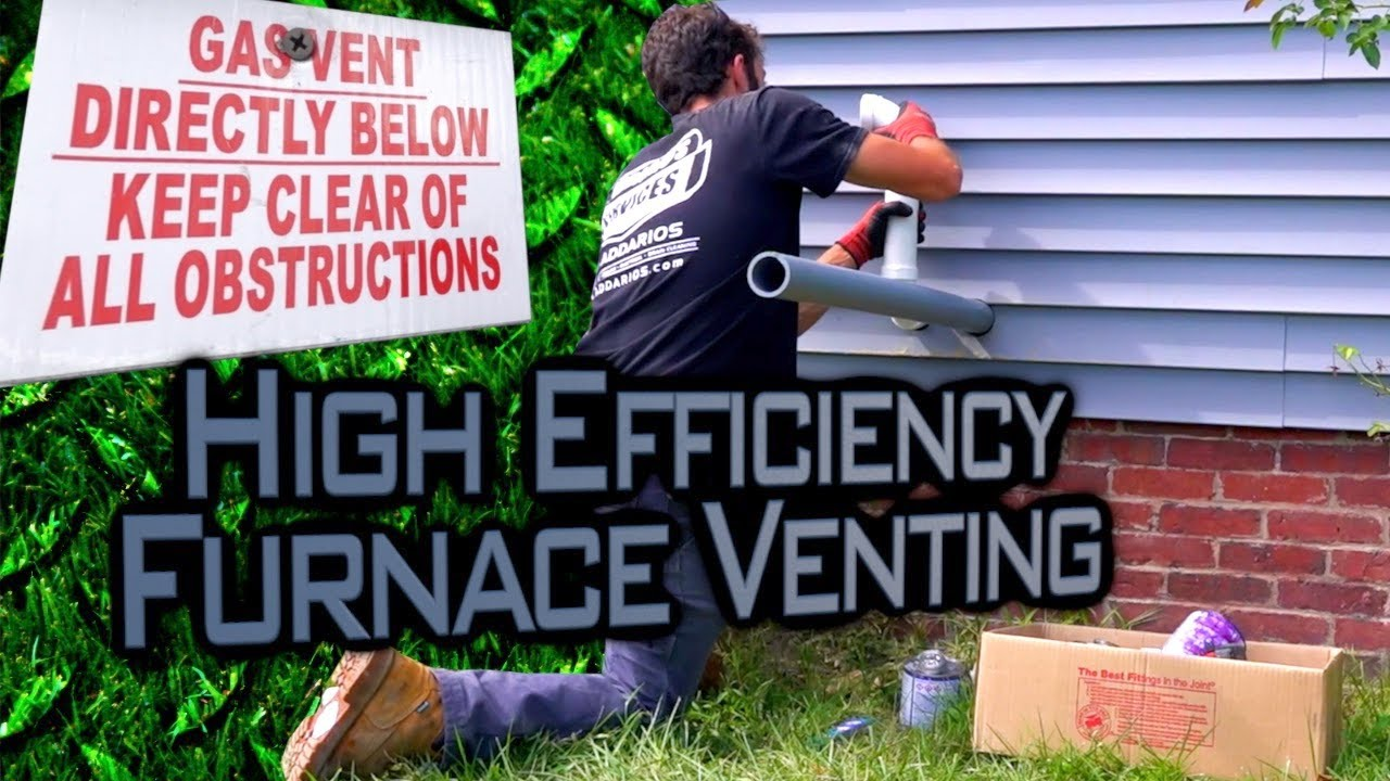 High Efficiency Furnace Venting [Building the Exhaust Port and Air Intake]