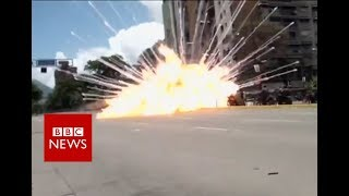 Explosions and clashes in Venezuela - BBC News