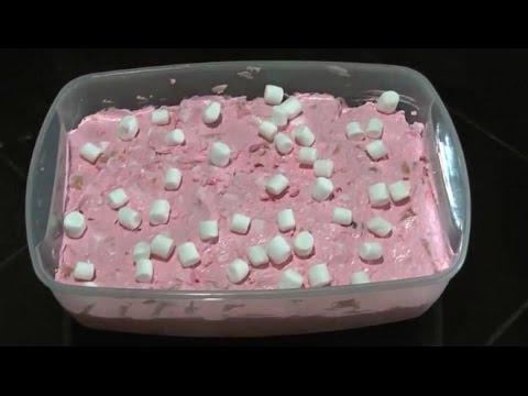 DIY Pink Jello dessert salad Recipe
