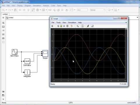 Simulink Basics Part 4 – Integration and Differentiation