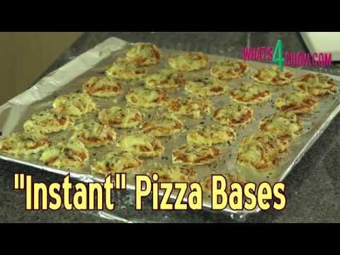 Instant Pizza Dough - Quick Matzah Bread Style Pizza Bases - No Rising Time!!!