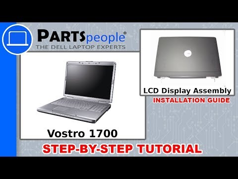 Dell Vostro 1700 LCD Display Assembly Replacement Video Tutorial