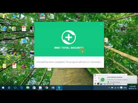 How to remove Qihoo 360 Total Security antivirus from your computer and glasswire firewall