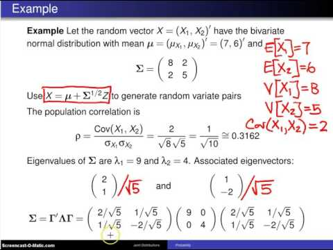 Bivariate normal distribution -- Example 3