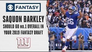 Saquon Barkley is an easy No.1 overall pick in your 2019 draft | Fantasy Football Today