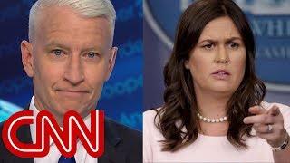 Anderson Cooper mocks Sarah Sanders