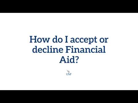 How do I accept or decline financial aid?