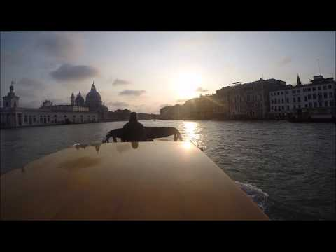 Venice Marco Polo Airport Transfer Water Taxi Boat Italy GoPro Hero 4 Black