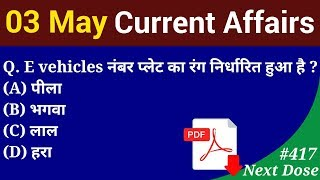 Next Dose #417   3 May 2019 Current Affairs   Daily Current Affairs   Current Affairs In Hindi