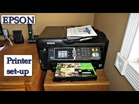 How to setup your Epson Printer - Start printing, copying, faxing and scanning today